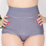 ANNETTE Black Gingham High Waist Bottom