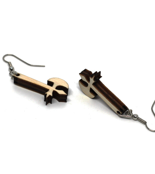The Walking Dead Inspired Axe Earrings
