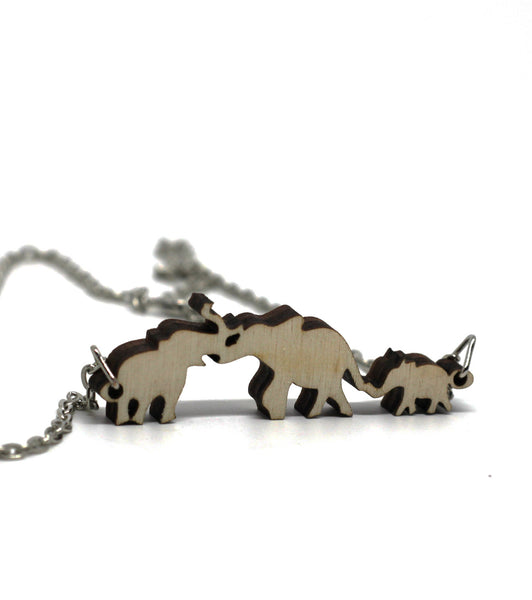 The Elephant Family Necklace
