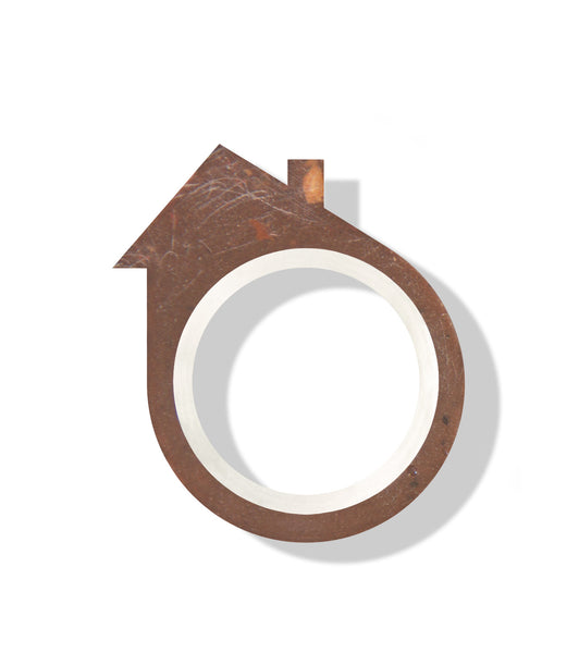 Hand-Casted Saltbox Roof Brick Ring
