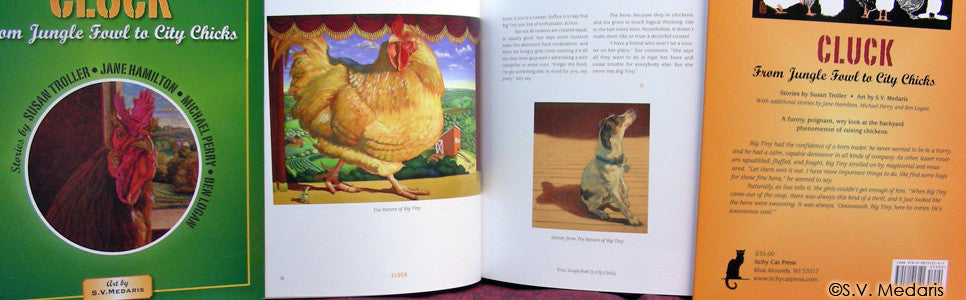 Book, book spreads of: Cluck: From Jungle Fowl to City Chicks