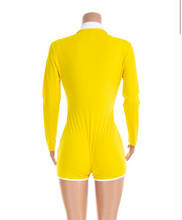 "Load image into Gallery viewer, ""Short"" Yellow Slim Playsuit"