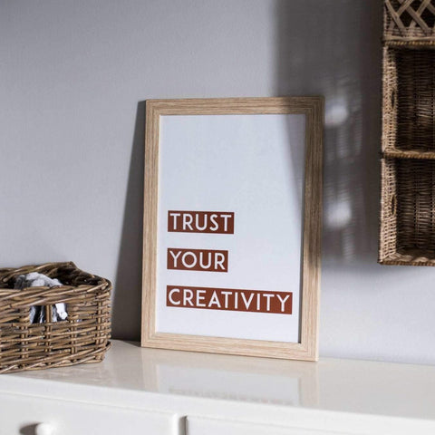 "Siebdruck Print ""trust you creativity"" limitierte Auflage"
