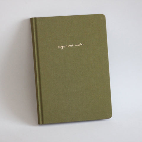 Diary/Notebook Hardcover - Vergiss dich nicht, DIN A5 - Olive