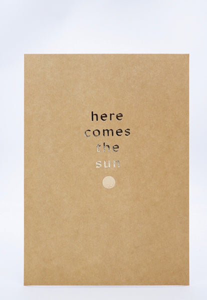 A5 Letterpress - here comes the sun