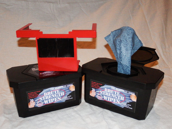 Brute Strength Wipes w/ Bracket (2 Boxes)