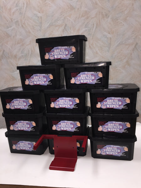 Brute Strength Wipes Case w/ Bracket (12 Boxes)