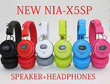 NIA X5SP 2 in 1 Speaker + Headphone (Red)