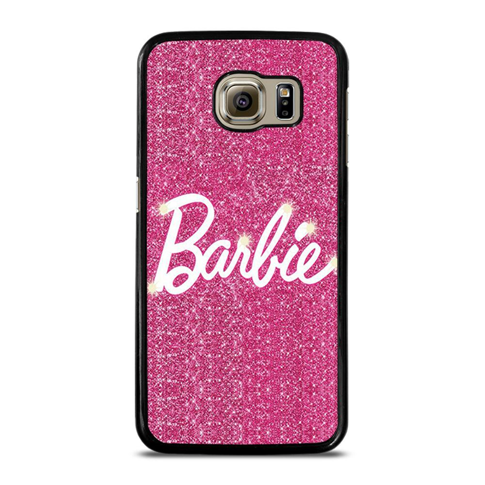 BARBIE PINK BLING GLITTER 1 Cover Samsung Galaxy S6