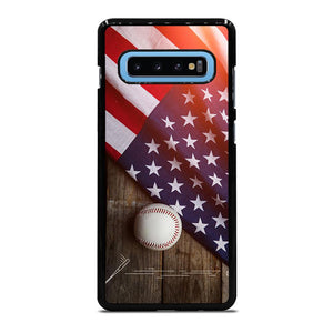BASEBALL BALL AND FLAG Cover Samsung Galaxy S10 Plus - bravocover