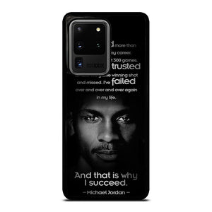 coque custodia cover fundas hoesjes j3 J5 J6 s20 s10 s9 s8 s7 s6 s5 plus edge D12520 BEST MICHAEL JORDAN QUOTE Samsung Galaxy S20 Ultra Case