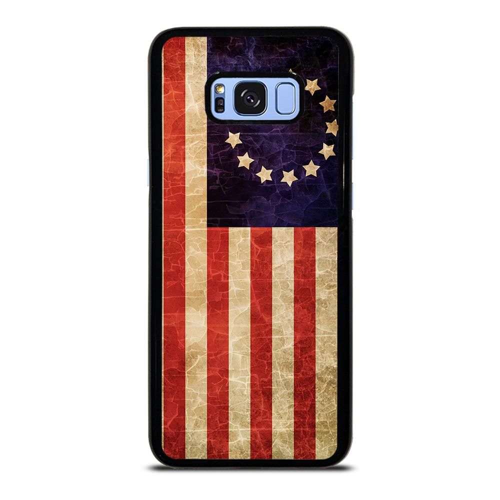 coque custodia cover fundas hoesjes j3 J5 J6 s20 s10 s9 s8 s7 s6 s5 plus edge D12543 BETSY ROSS FLAG USA Samsung Galaxy S8 Plus Case