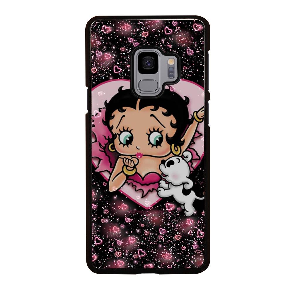 coque custodia cover fundas hoesjes j3 J5 J6 s20 s10 s9 s8 s7 s6 s5 plus edge D12606 BETTY BOOP CUT LOVE Samsung Galaxy S9 Case