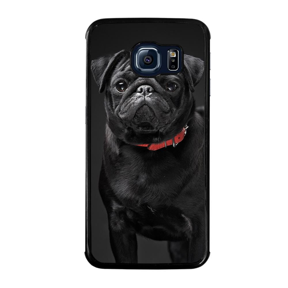 BLACK PUG Cover Samsung Galaxy S6 Edge