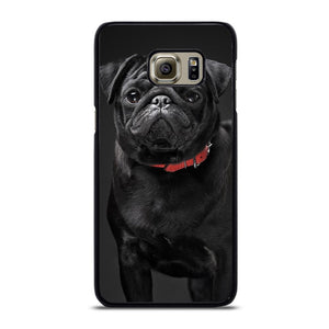 coque custodia cover fundas hoesjes j3 J5 J6 s20 s10 s9 s8 s7 s6 s5 plus edge D13115 BLACK PUG #1 Samsung Galaxy S6 Edge Plus Case