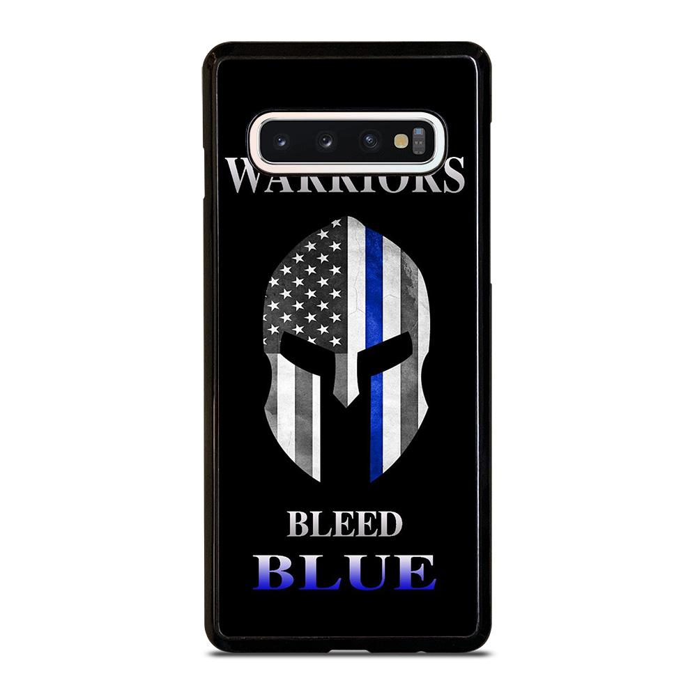 coque custodia cover fundas hoesjes j3 J5 J6 s20 s10 s9 s8 s7 s6 s5 plus edge D13260 BLUE LINE POLICE WARRIOR SKULL #1 Samsung Galaxy S10 Case