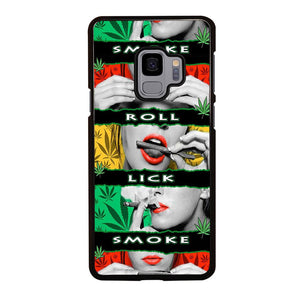 coque custodia cover fundas hoesjes j3 J5 J6 s20 s10 s9 s8 s7 s6 s5 plus edge D13376 BLUNT ROLL WEED OBE #3 Samsung Galaxy S9 Case