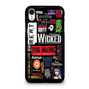 coque custodia cover fundas iphone 11 pro max 5 6 7 8 plus x xs xr se2020 C12250 BROADWAY MUSICAL COLLAGE iPhone XR Case