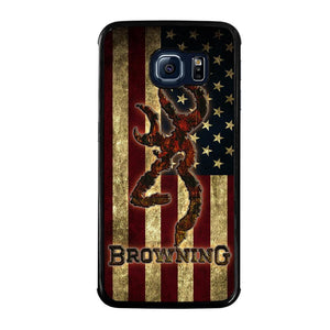 BROWNING USA FLAG Cover Samsung Galaxy S6 Edge