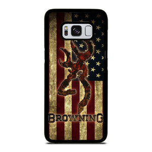 BROWNING USA FLAG Cover Samsung Galaxy S8,puro cover s8 migliore cover s8,BROWNING USA FLAG Cover Samsung Galaxy S8