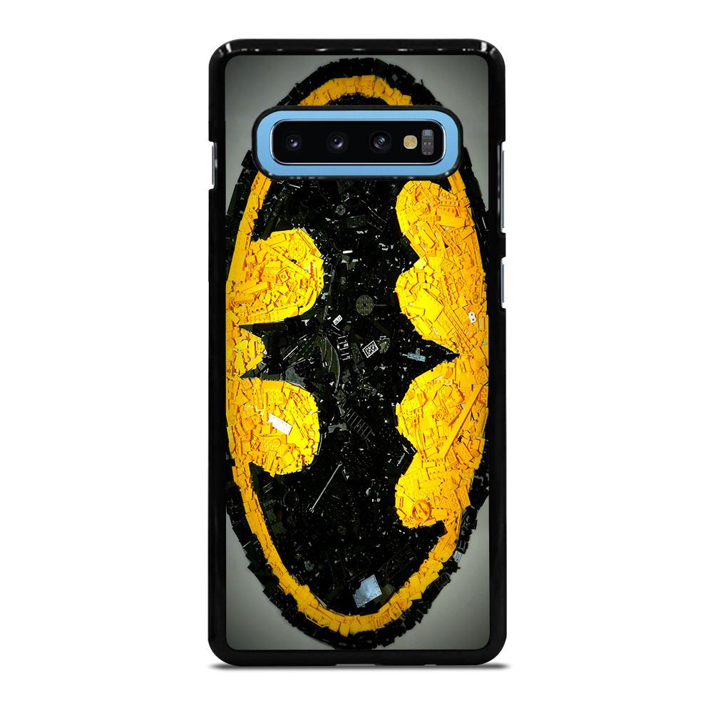Batman Logo Black Yellow 2 Cover Samsung Galaxy S10 Plus - bravocover