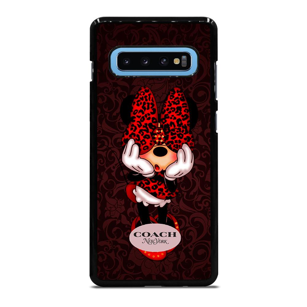 COACH MINNIE MOUSE NEW YORK Cover Samsung Galaxy S10 Plus