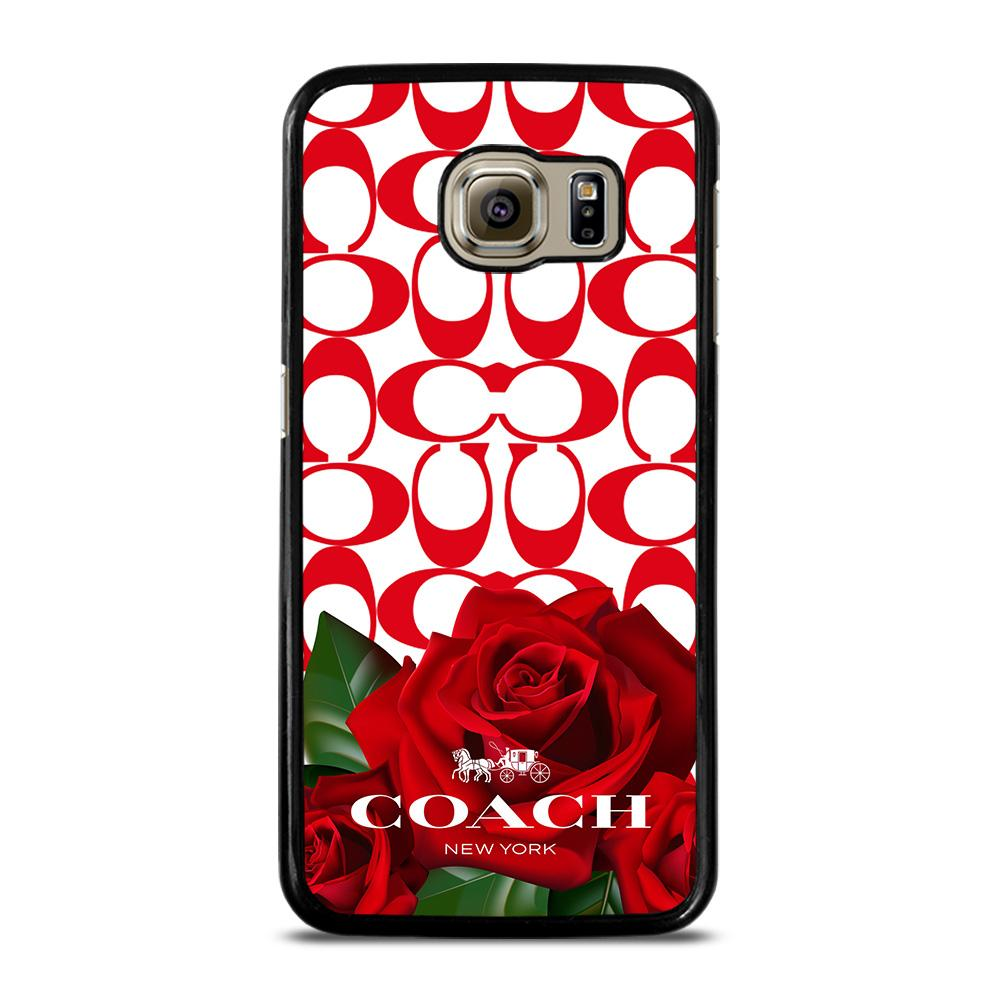 COACH NEW YORK FLOWER 4 Cover Samsung Galaxy S6