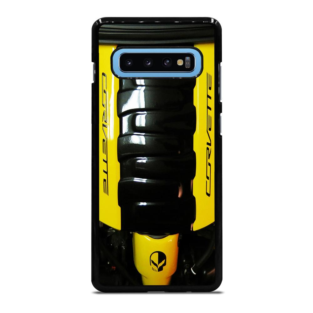 CORVETTE ENGINE YELLOW Cover Samsung Galaxy S10 Plus