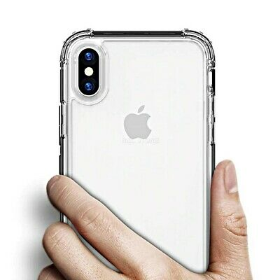 COVER per Iphone X XS Max XR Silicone TPU Clear Bordi Rinforzati