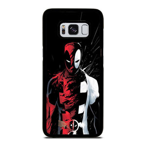 DEADPOOL BLACK IN BLACK WHITE Cover Samsung Galaxy S8,silicone cover s8 cover s8 samsung originale,DEADPOOL BLACK IN BLACK WHITE Cover Samsung Galaxy S8
