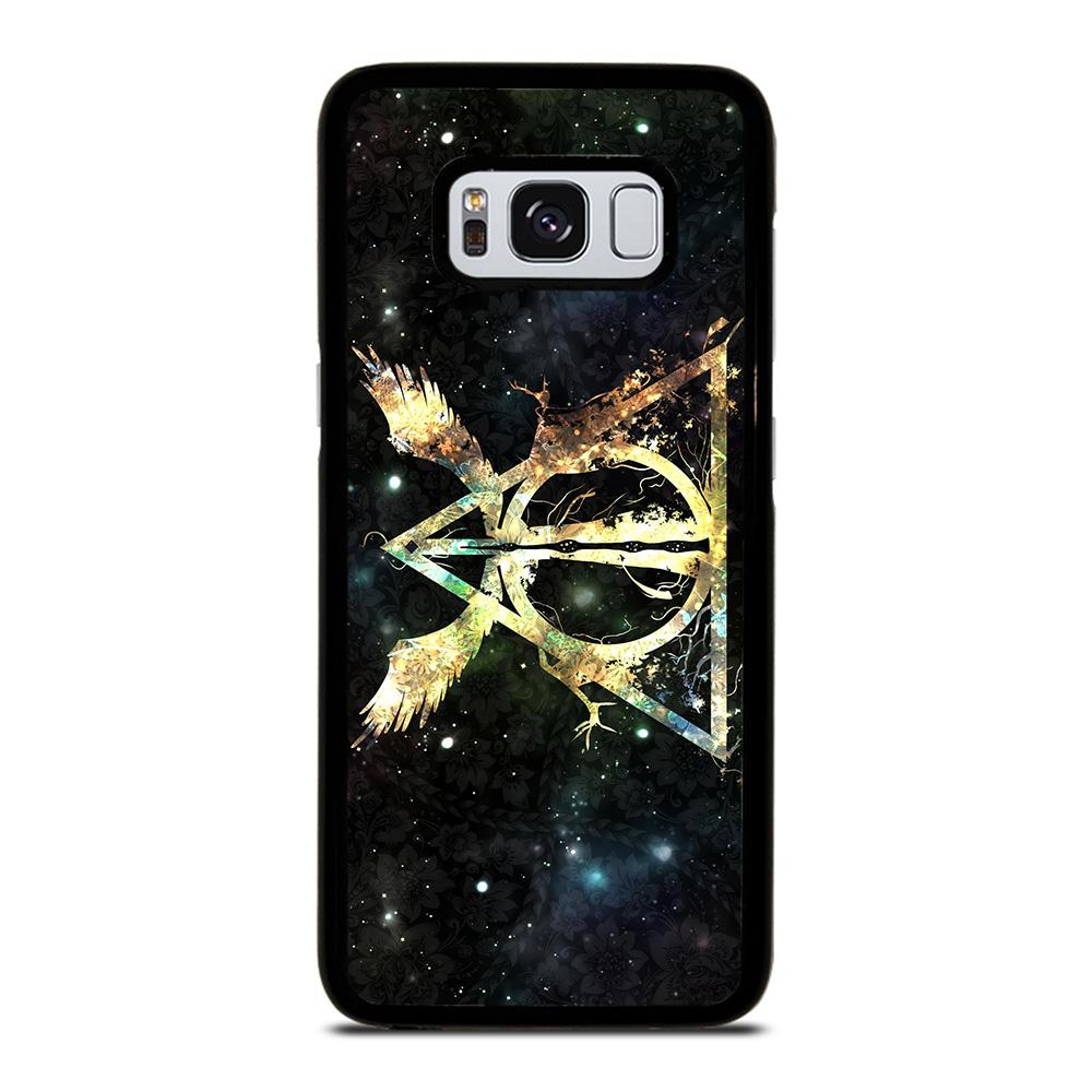 DEATHLY HALLOWS HARRY POTTER ICON Cover Samsung Galaxy S8,cover s8 fronte retro cover s8 cellular line,DEATHLY HALLOWS HARRY POTTER ICON Cover Samsung Galaxy S8