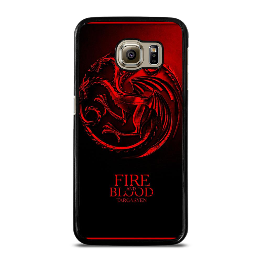 FIRE ANG BLOOD TARGARYEN Cover Samsung Galaxy S6