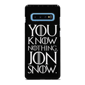 GAME OF THRONES KNOW NOTHING JON SNOW black rubber Cover Samsung Galaxy S10 Plus