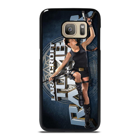 LARA CROFT TOMB RAIDER iPhone XR Plastic Black Cover Samsung Galaxy S7 cover