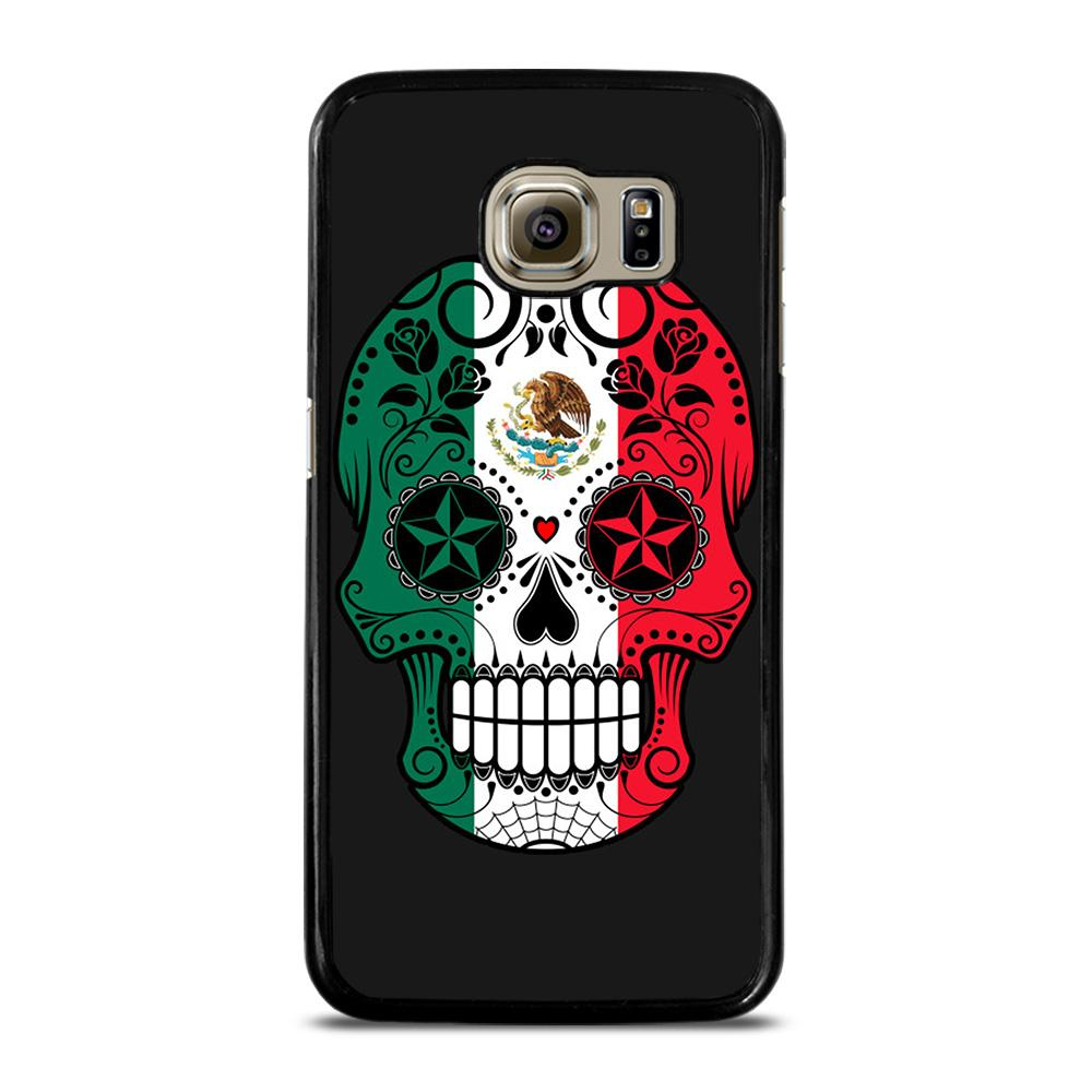 MEXICO SKULL SKELETON FLAG Cover Samsung Galaxy S6