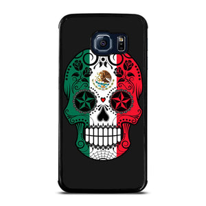 MEXICO SKULL SKELETON FLAG Cover Samsung Galaxy S6 Edge