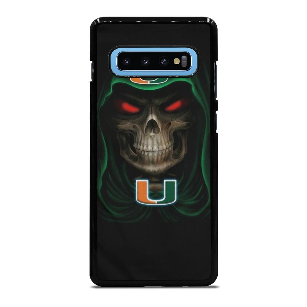 MIAMI HURRICANES SKULL Cover Samsung Galaxy S10 Plus