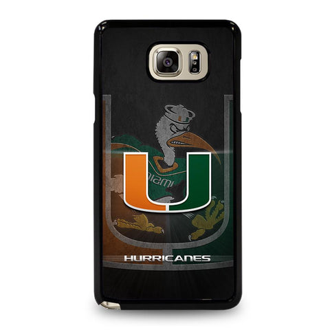 coque custodia cover fundas hoesjes j3 J5 J6 s20 s10 s9 s8 s7 s6 s5 plus edge D34333 MIAMI HURRICANES UM #3 Samsung Galaxy Note 5 Case