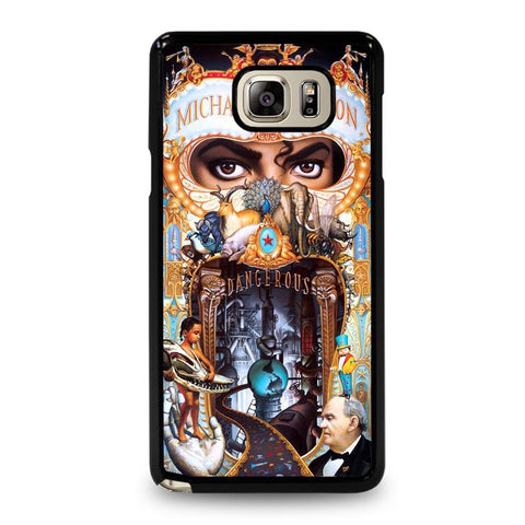 coque custodia cover fundas hoesjes j3 J5 J6 s20 s10 s9 s8 s7 s6 s5 plus edge D34407 MICHAEL JACKSON DANGEROUS Samsung Galaxy Note 5 Case