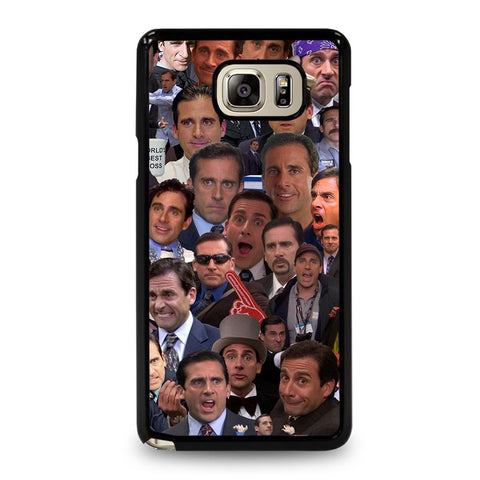 coque custodia cover fundas hoesjes j3 J5 J6 s20 s10 s9 s8 s7 s6 s5 plus edge D34711 MICHAEL SCOTT COLLAGE Samsung Galaxy Note 5 Case