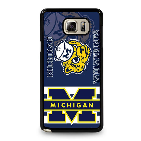 coque custodia cover fundas hoesjes j3 J5 J6 s20 s10 s9 s8 s7 s6 s5 plus edge D34749 MICHIGAN WOLVERINES #6 Samsung Galaxy Note 5 Case