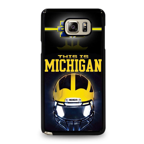 coque custodia cover fundas hoesjes j3 J5 J6 s20 s10 s9 s8 s7 s6 s5 plus edge D34770 MICHIGAN WOLVERINES FOOTBALL #4 Samsung Galaxy Note 5 Case