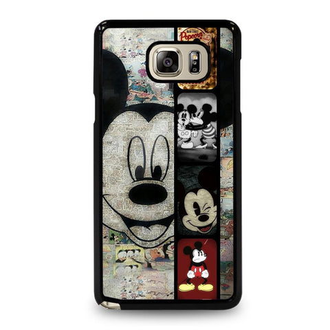 coque custodia cover fundas hoesjes j3 J5 J6 s20 s10 s9 s8 s7 s6 s5 plus edge D34895 MICKEY MOUSE PAPER Samsung Galaxy Note 5 Case