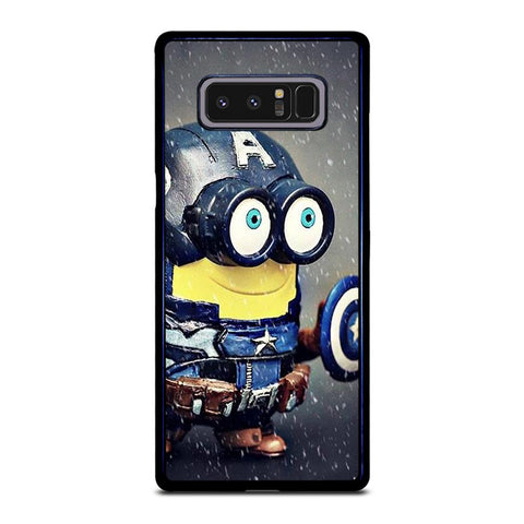 coque custodia cover fundas hoesjes j3 J5 J6 s20 s10 s9 s8 s7 s6 s5 plus edge D35181 MINION STYLE CAPTAIN AMERICA Samsung Galaxy Note 8 Case