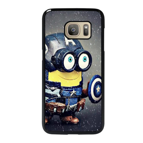 coque custodia cover fundas hoesjes j3 J5 J6 s20 s10 s9 s8 s7 s6 s5 plus edge D35187 MINION STYLE CAPTAIN AMERICA Samsung Galaxy S7 Case