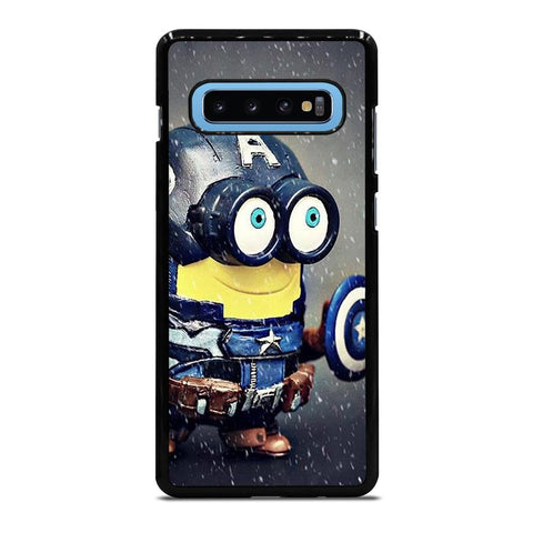 coque custodia cover fundas hoesjes j3 J5 J6 s20 s10 s9 s8 s7 s6 s5 plus edge D35186 MINION STYLE CAPTAIN AMERICA Samsung Galaxy S10 Plus Case