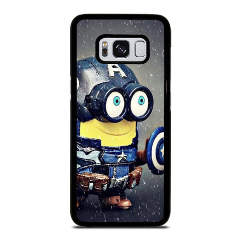 coque custodia cover fundas hoesjes j3 J5 J6 s20 s10 s9 s8 s7 s6 s5 plus edge D35189 MINION STYLE CAPTAIN AMERICA Samsung Galaxy S8 Case
