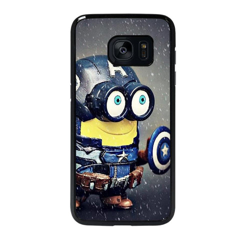 coque custodia cover fundas hoesjes j3 J5 J6 s20 s10 s9 s8 s7 s6 s5 plus edge D35188 MINION STYLE CAPTAIN AMERICA Samsung Galaxy s7 edge Case