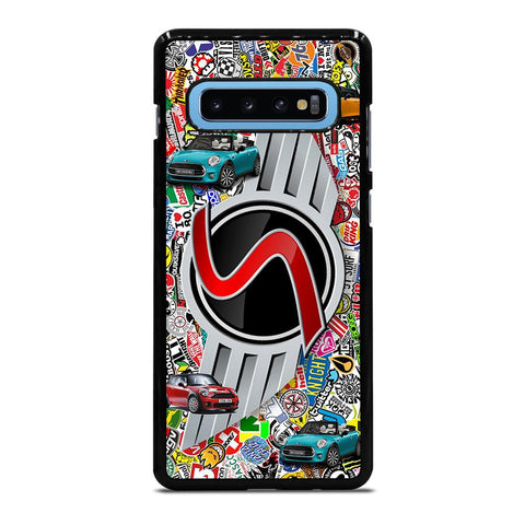 coque custodia cover fundas hoesjes j3 J5 J6 s20 s10 s9 s8 s7 s6 s5 plus edge D35074 MINI COOPER BADGE STICKER BOMB Samsung Galaxy S10 Plus Case