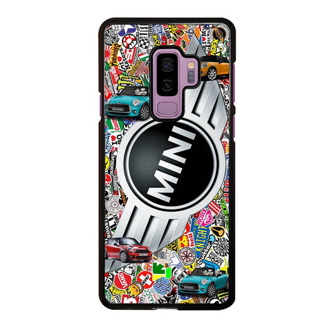 coque custodia cover fundas hoesjes j3 J5 J6 s20 s10 s9 s8 s7 s6 s5 plus edge D35052 MINI COOPER BADGE STICKER BOMB #1 Samsung Galaxy S9 Plus Case